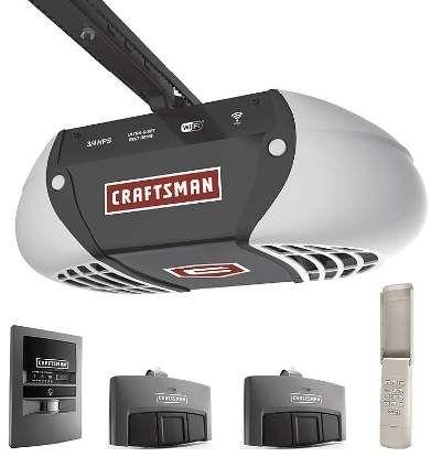 Craftsman 57915 3 4 Horsepower Ultra Quiet Belt Drive Garage Door Opener Wi Fi 179 99 S Craftsman Garage Door Craftsman Garage Door Opener Garage Door Opener