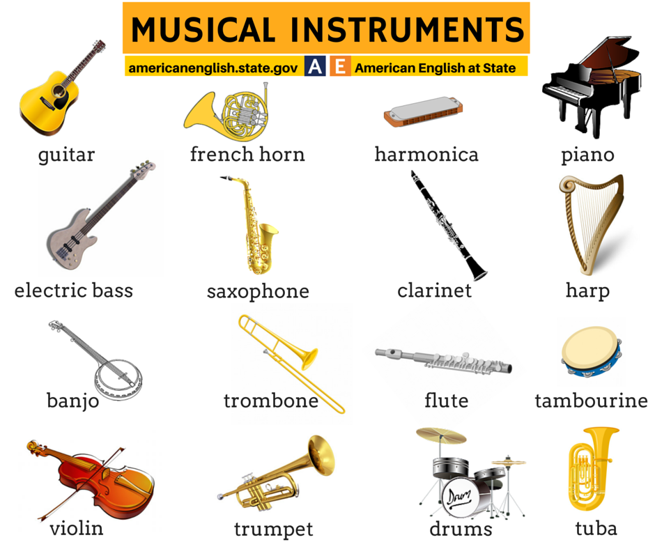 Fabuleux Musical Instruments Vocabulary | Learning English | Pinterest VZ11