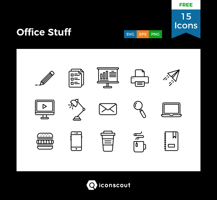 Download Office Stuff Free Icon Pack - 15 Pixel Perfect Icons ...