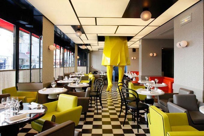 Pop art restaurant interior design pinterest