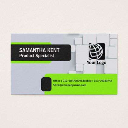 Elegant black and green columned business card cyo customize elegant black and green columned business card cyo customize design idea do it yourself solutioingenieria Gallery