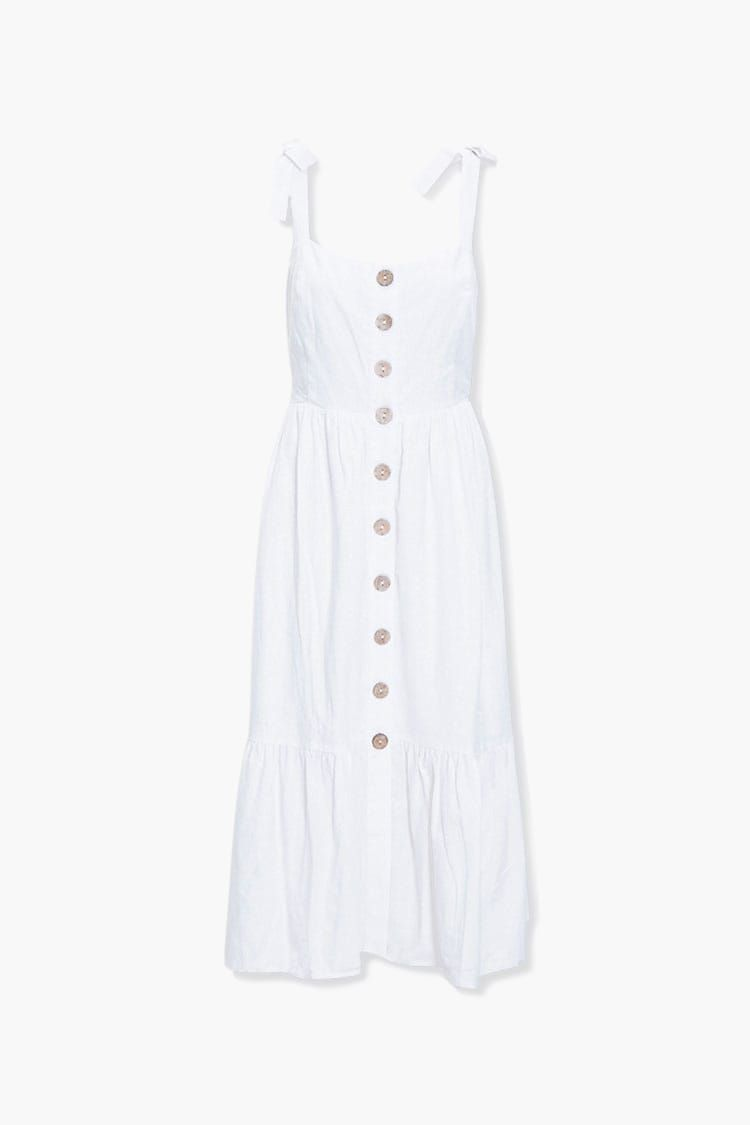 Tiered Tie Strap Dress Forever 21 In 2020 Dresses Short Long Dresses Jumpsuits For Women [ 1125 x 750 Pixel ]