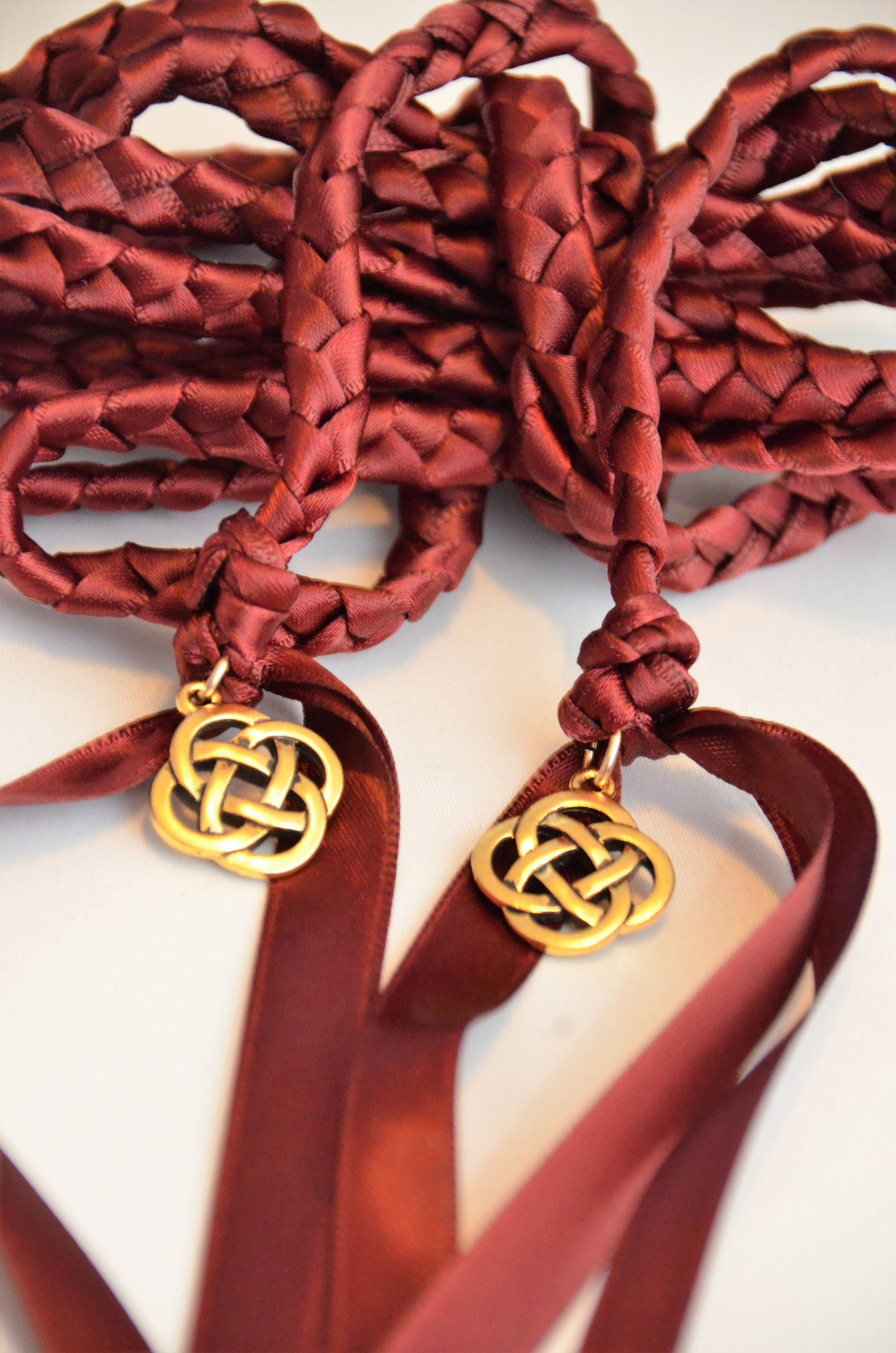 Burgundy Celtic Knot Wedding Hand Fasting Binding Cord Handfasting Tying The Ceremony Vows By Divinitybraid On Etsy