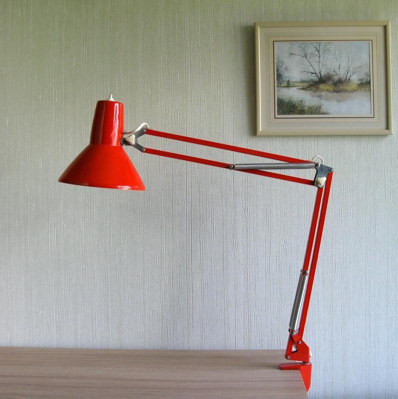 Swedish Architect Desk Lamp Pileprodukter Landskrona Sweden Etsy In 2020 Desk Lamp Scandinavian Desk Lamp Architects Desk