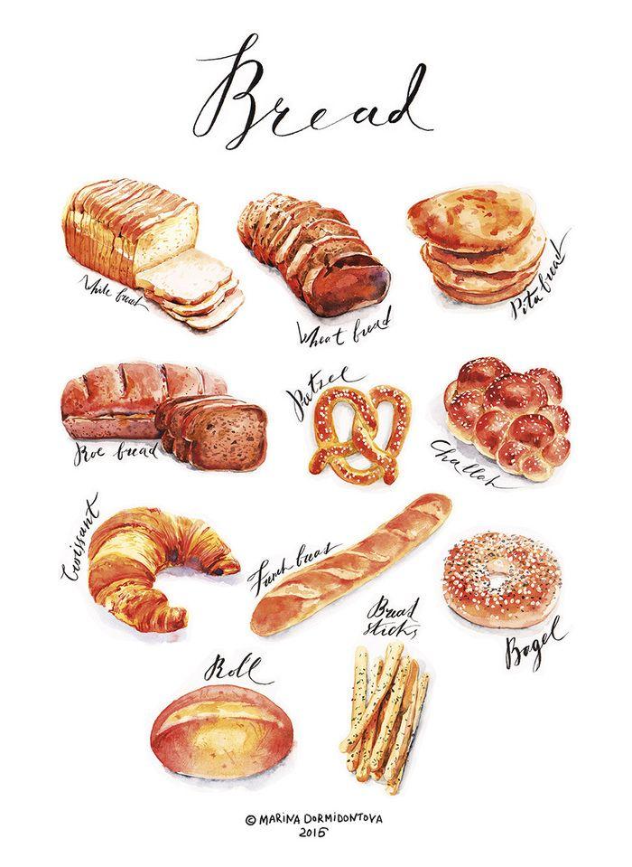 main bread poster1 bakery em 2018 pinterest. Black Bedroom Furniture Sets. Home Design Ideas
