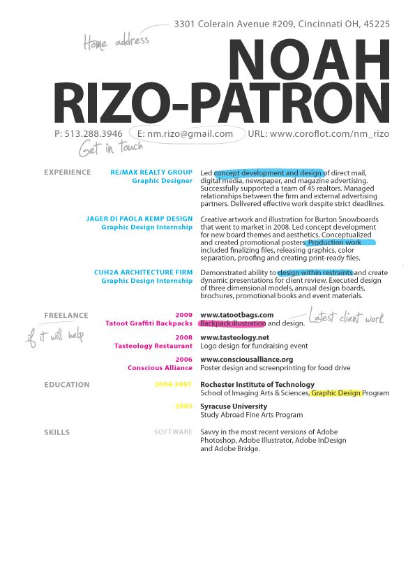 graphic design resume - Google Search design Pinterest - Examples Of Resumes For Restaurant Jobs