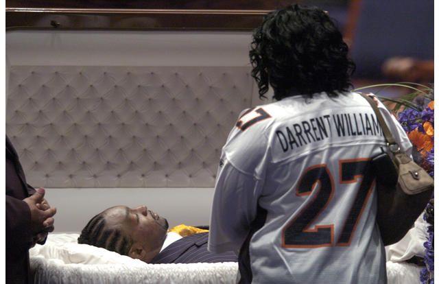 Celebrity open casket wakes