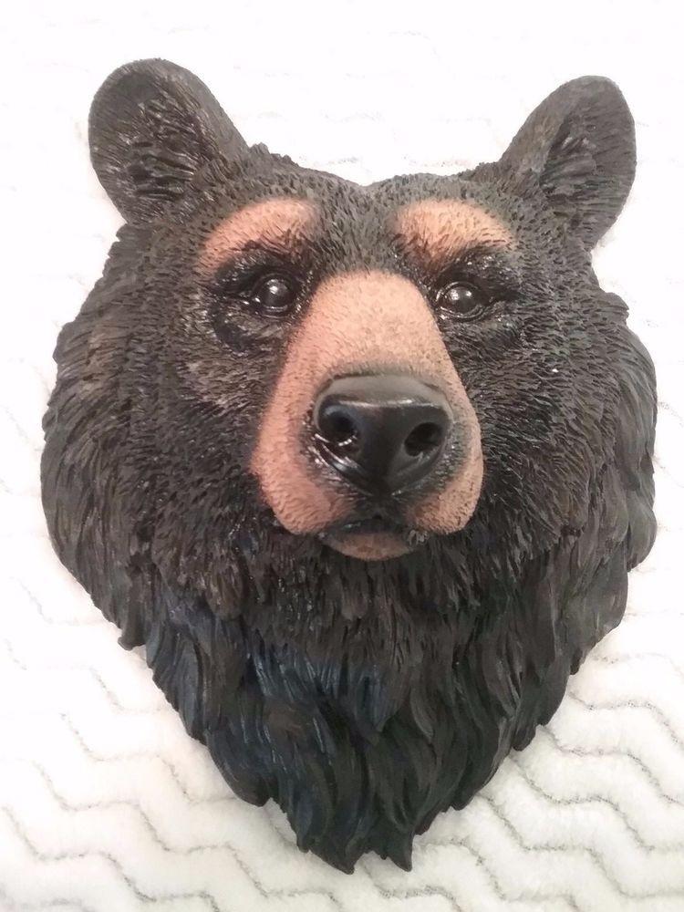 Black Bear Face Head Cabin Rustic Home Decor Wall Decoration ...
