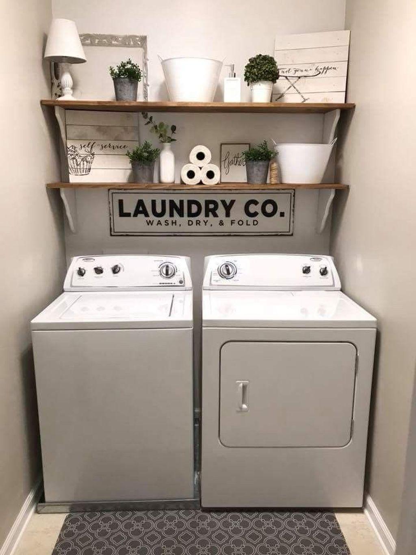 17 Minimalist Small Laundry Room Organization Ideas  Laundry room