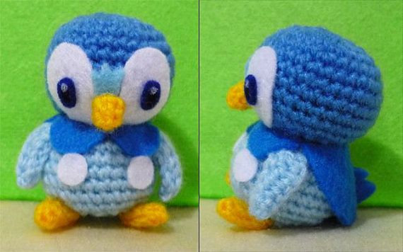 Crochet Piplup from Pokemon Amigurumi Finish, $16.90