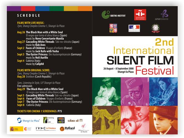 Silent Film Festival Brochure By Roshipotoshideviantart On DeviantART