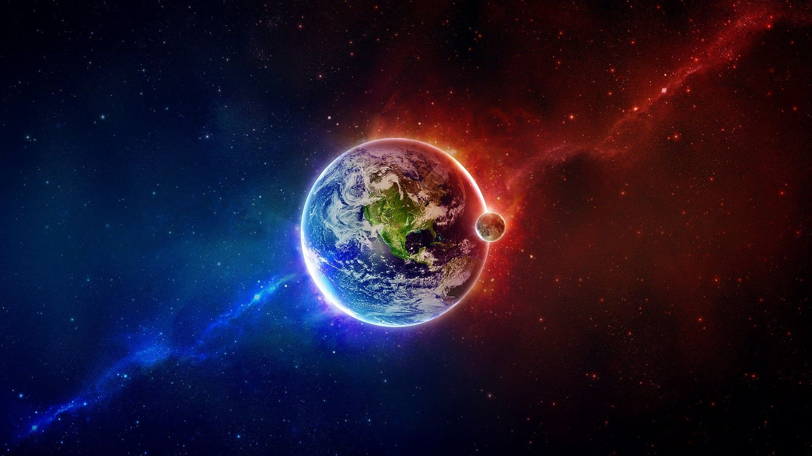 Pics photos hd wallpapers epic desktop s - Feed Pictures Abstract Art Earth Space Blue Red Hd Epic Wallpaper With