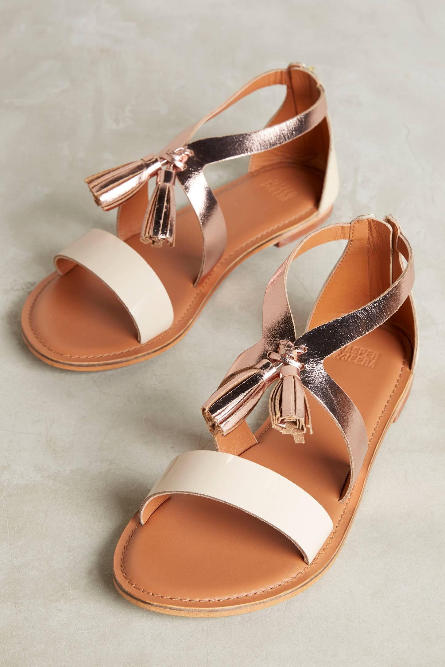 0adefc9289f9 Slide View  1  Jasper   Jeera Rose Gold Tassel Sandals