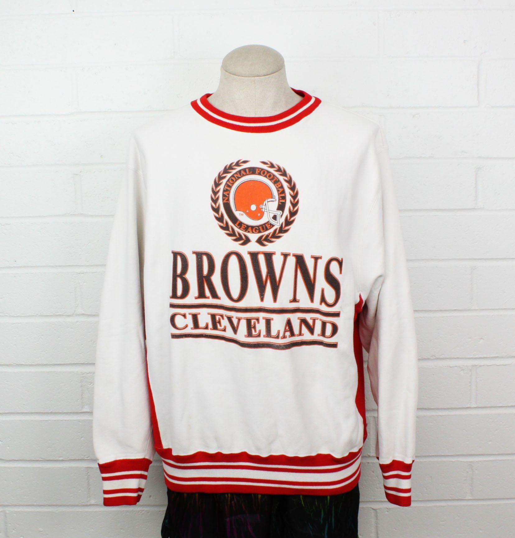 Vintage 90s Cleveland Browns Xl Sweatshirt Baggy White And Red Etsy Cleveland Browns Sweatshirt Sweatshirts Large Sweaters [ 1731 x 1656 Pixel ]