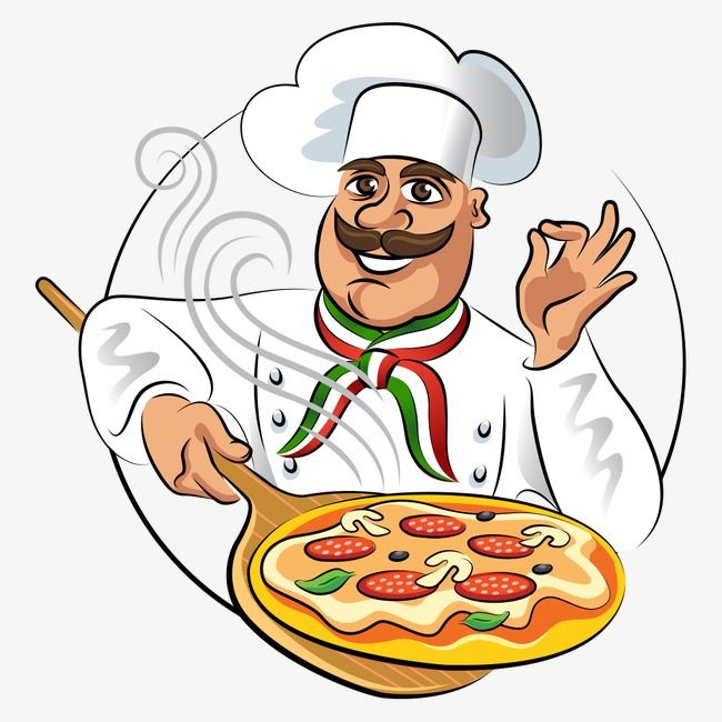 15+ Animated Pizza Chef Clipart