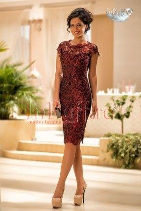 rochie trei sferturi dantela rosie dresses formal dresses fashion pinterest