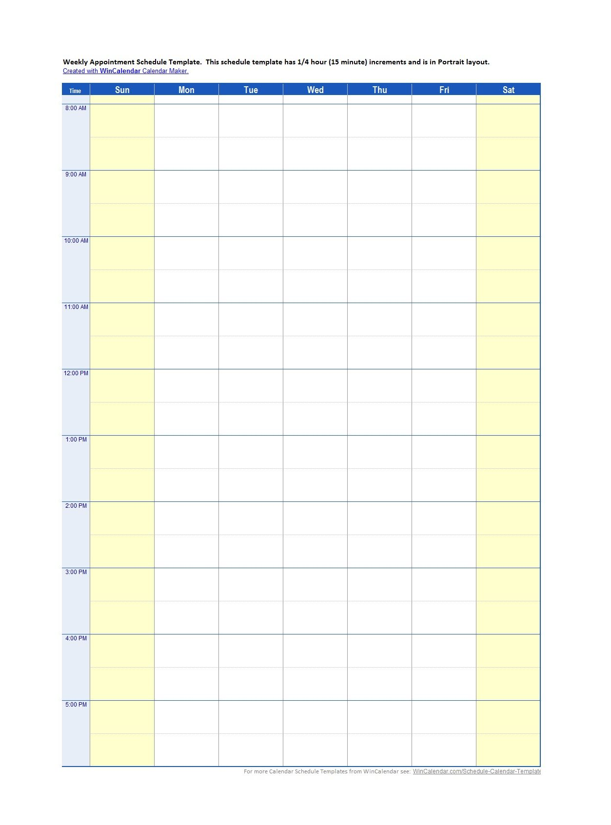 45 Printable Appointment Schedule Templates Appointment For