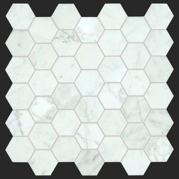 Bianco Carrara 2 inches Honed Marble Honey Comb Mosaic Tile - Modern - Tile - All Marble Tiles
