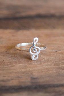 Treble Clef Ring