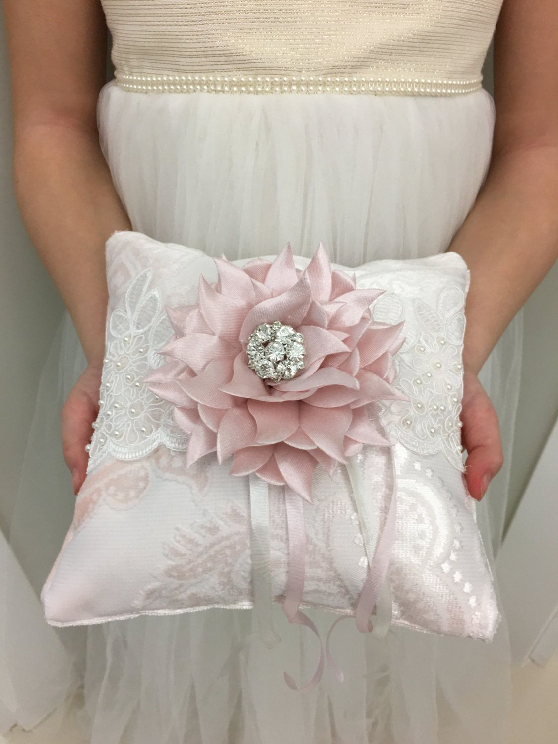media rustic bearer box ivory ring lace cushion pillow wedding