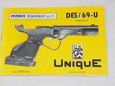 Scarce Unique Pistolet Standard Uits69 U Owners Instruction