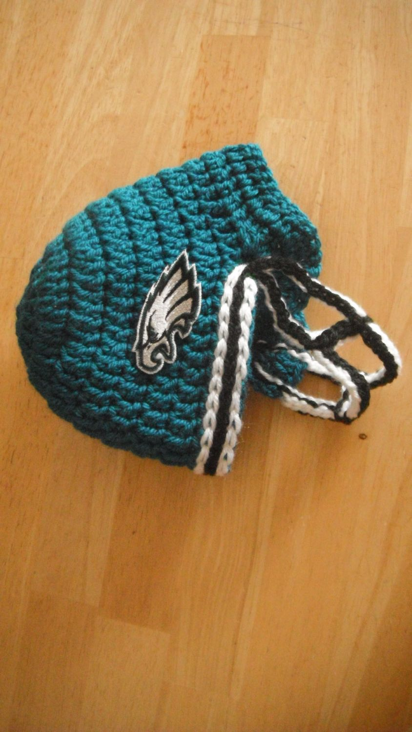 Crochet Philadelphia eagles helmet Baby newborn by lilianda, $34.99 ...