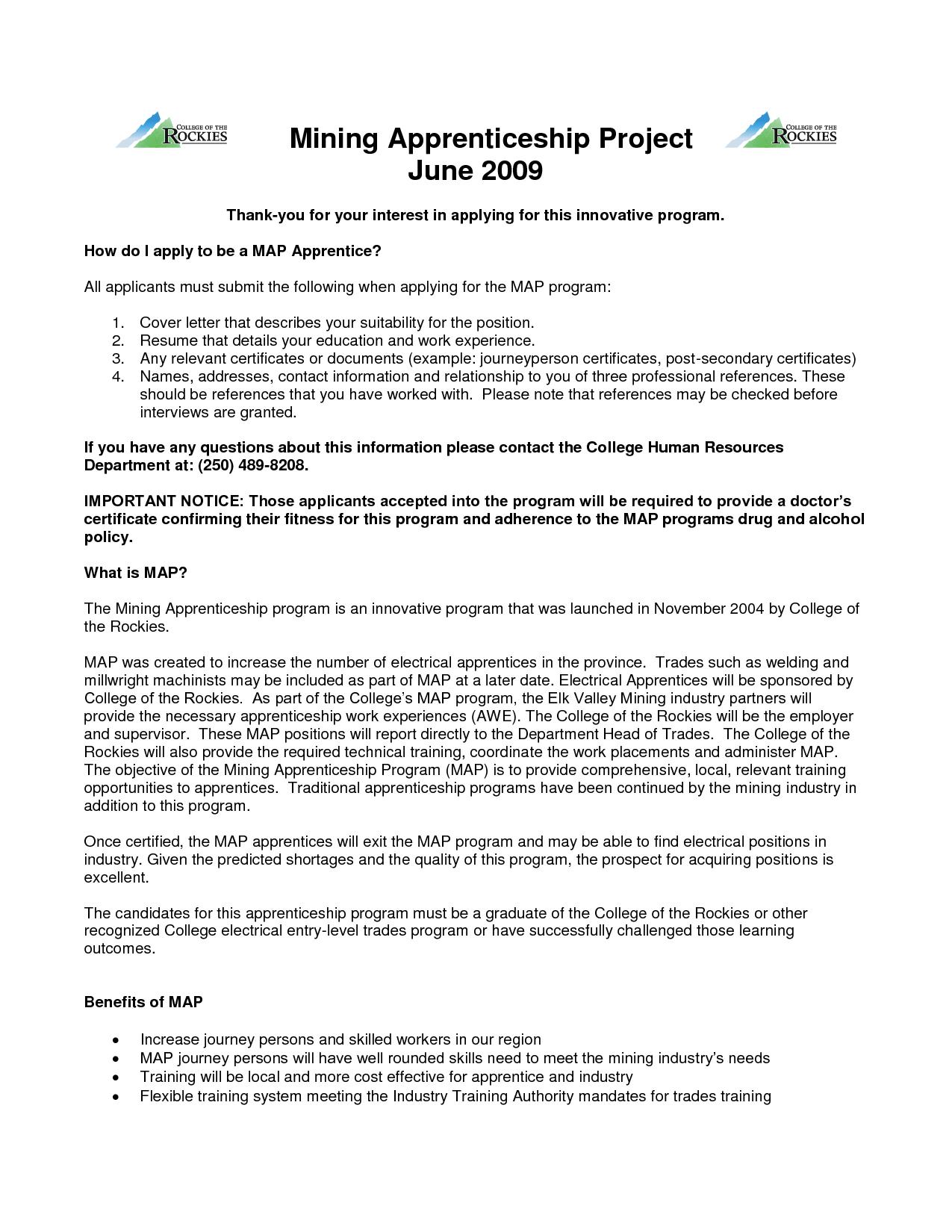 apprenticeship essay example apprentice plumber cover letter ...