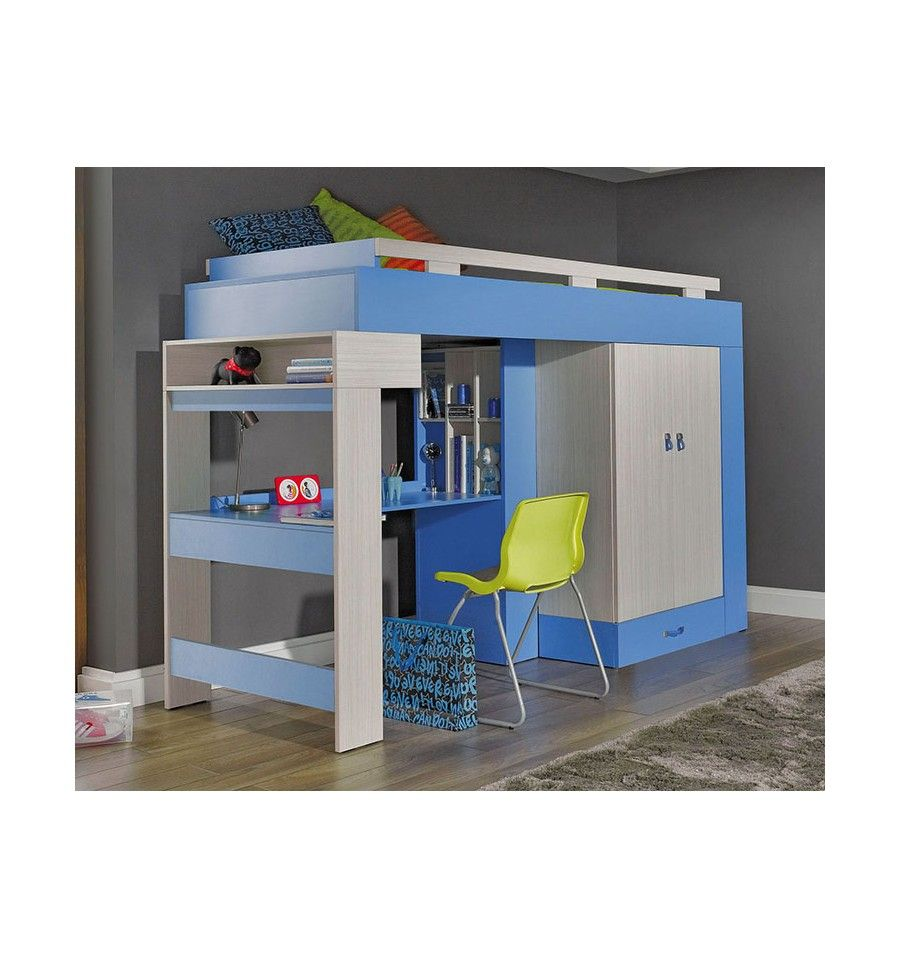 lit combin bureau enfant libellule bleu mobiler d 39 enfant mobilier design bedroom. Black Bedroom Furniture Sets. Home Design Ideas