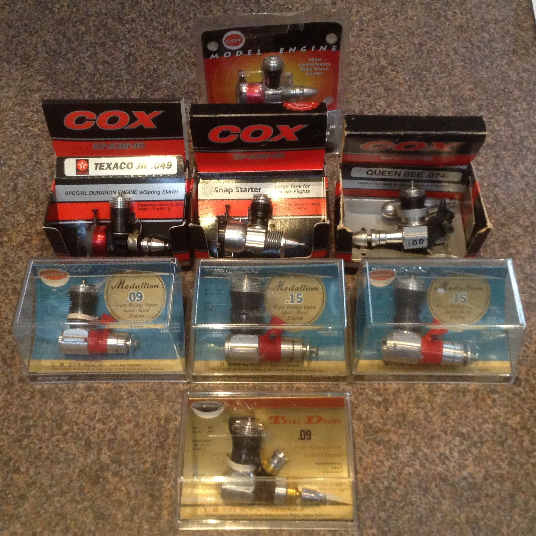 Some NIB Cox's Tether car, Model airplanes, Miniature model