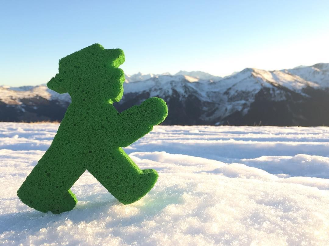 During #Christmas Time at the Bavarian Alps. So beautiful! #LittleGreenMan #AmpelmannWorld #FollowAmpelmann #ampelmannLifestyle