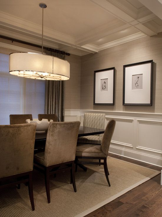 dining room wall pictures high definition pics | Wall covering - Larsen Grasscloth In Lichen | Столовая ...