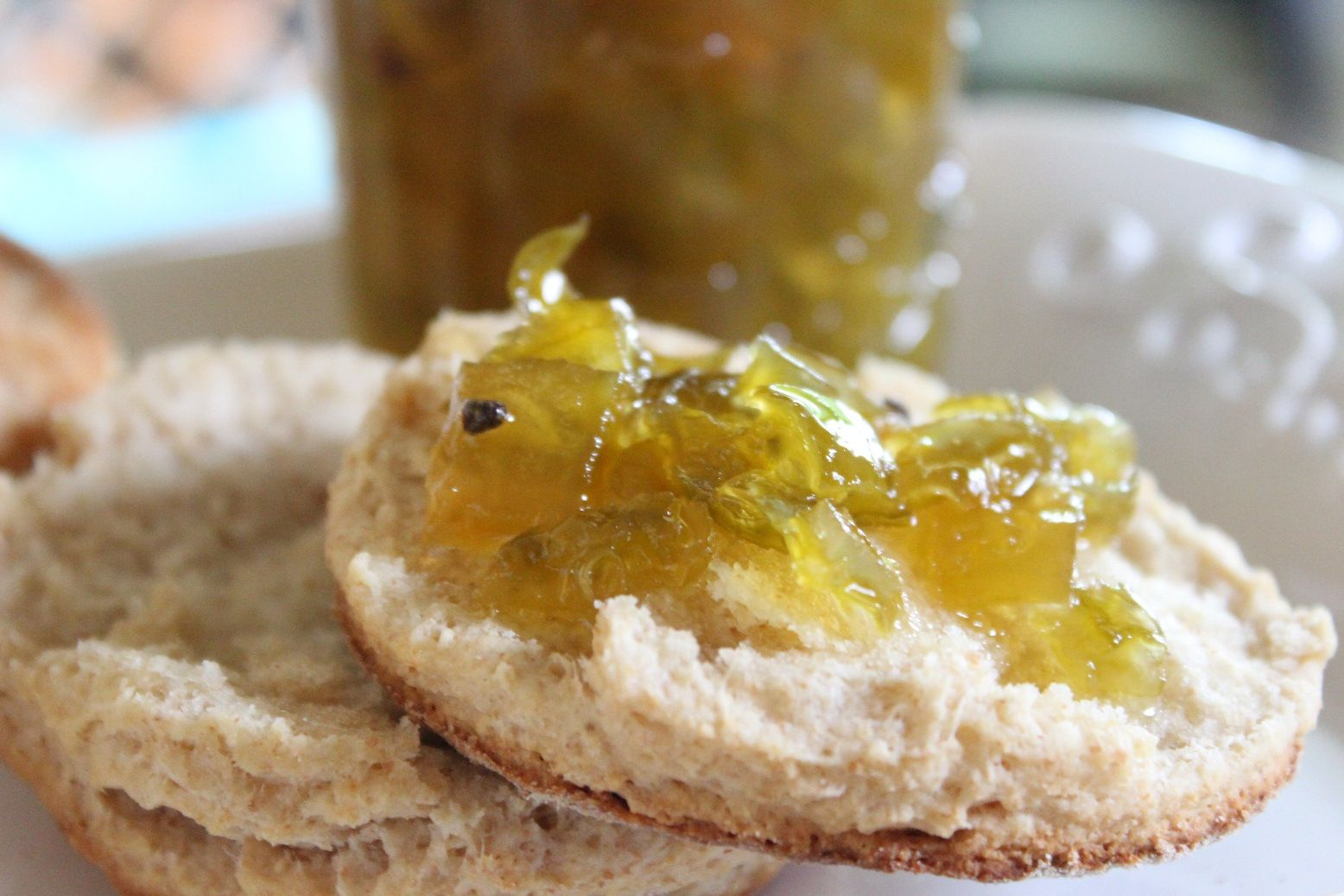 Green Tomato Preserves Spiced with Ginger and Cardamom