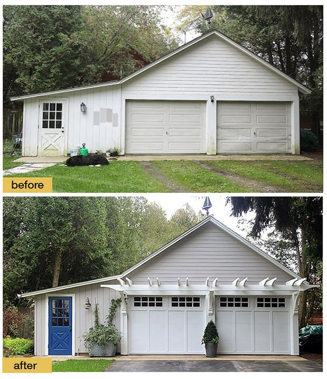 Pin On Garage Makeover: Fresh Paint, New Light Fixtures, Carriage House Style
