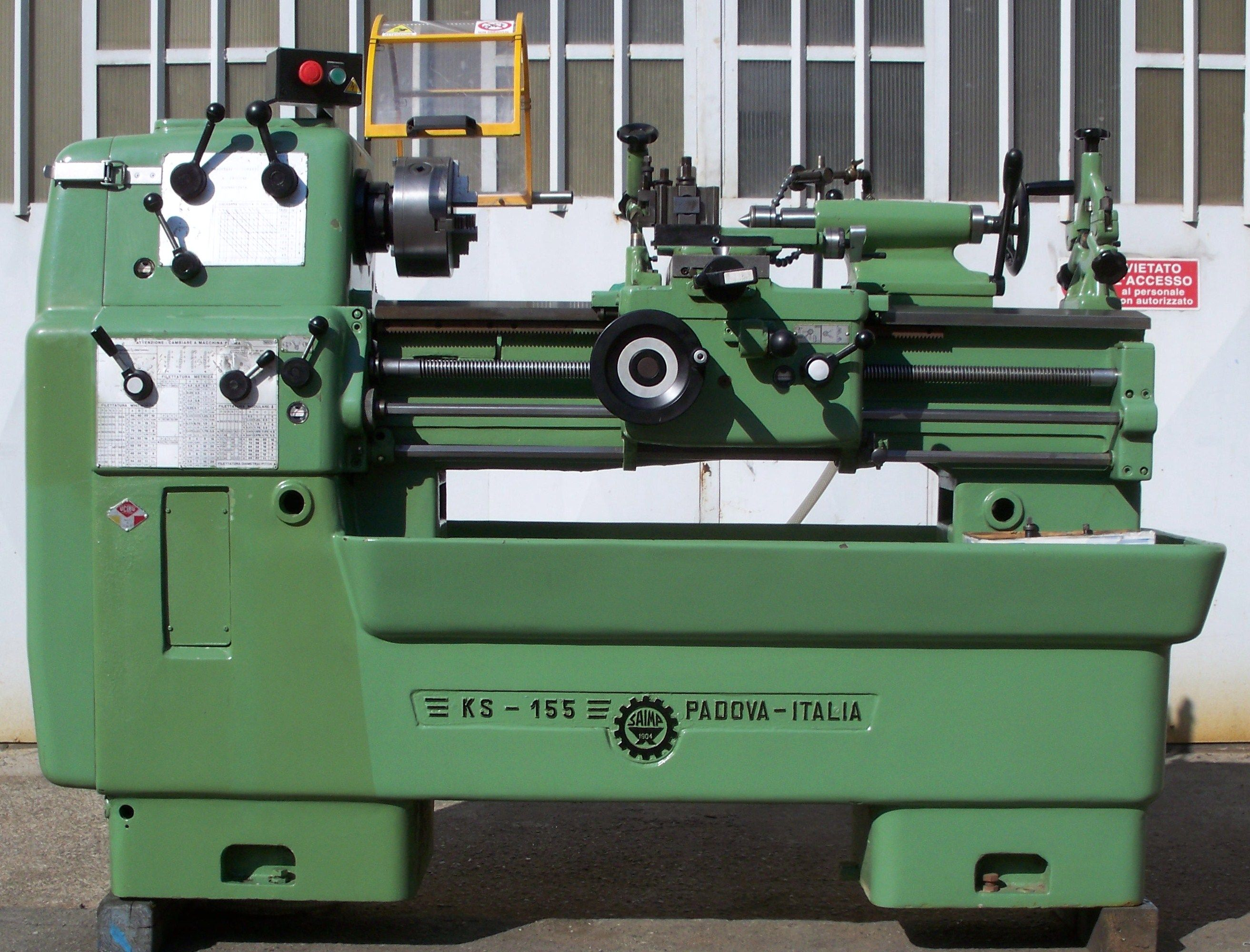 3300 euro tornio saimp ks 155 330 x 100 vendita usato for Cerco tornio