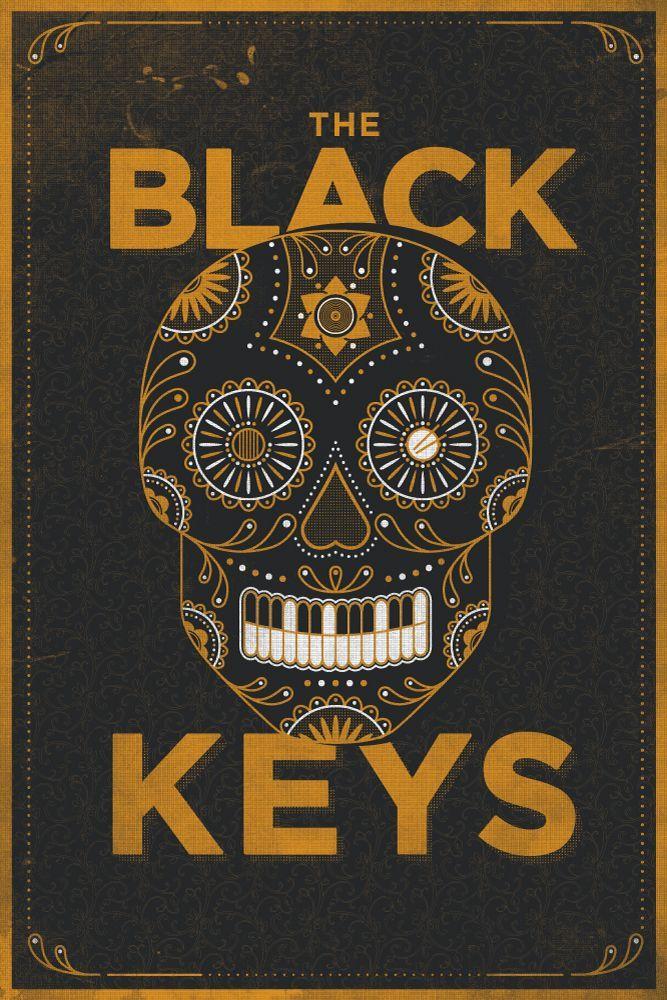 the black keys skull poster by jamie mclennan cool movie car