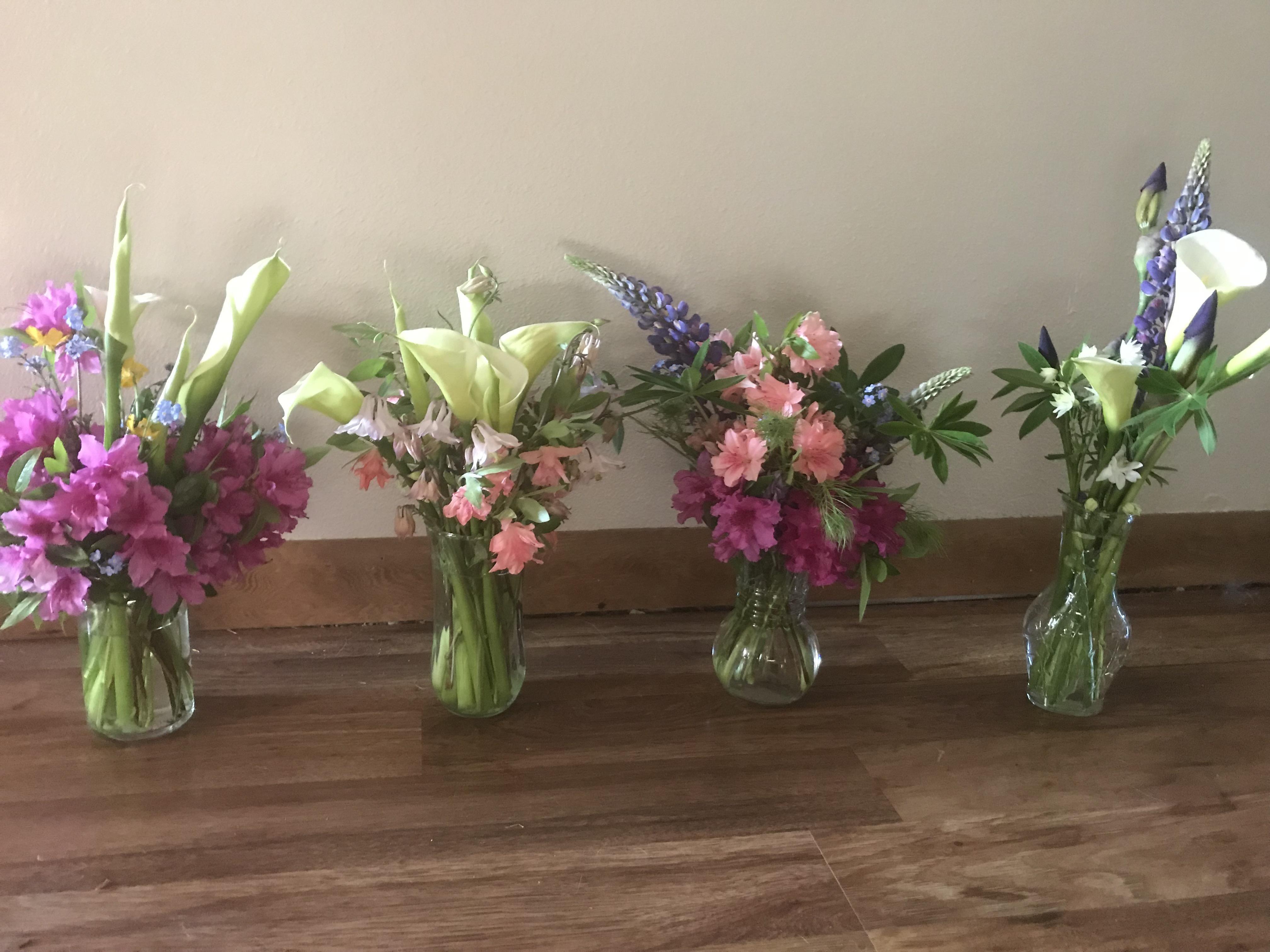 Appreciating some teachers azalea calla lily lupine columbine forget ...