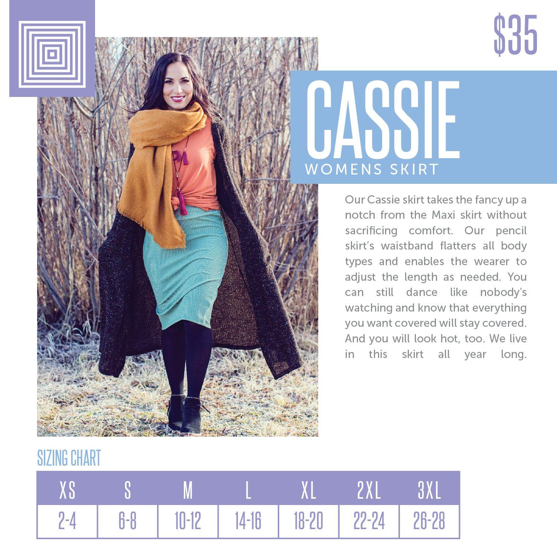 33b9cf043 LuLaRoe Cassie Sizing Chart 2018 | LuLaRoe Sizing Charts in 2019 ...