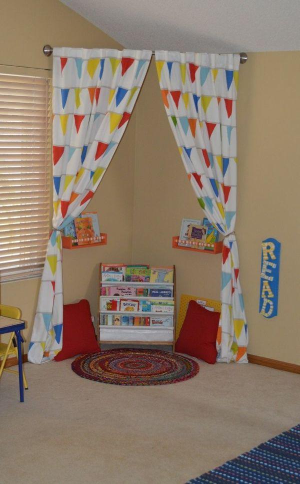 Kuschelecke Kinderzimmer - eine persönliche Ecke fürs Kind - ideen fur leseecke pastellfarben