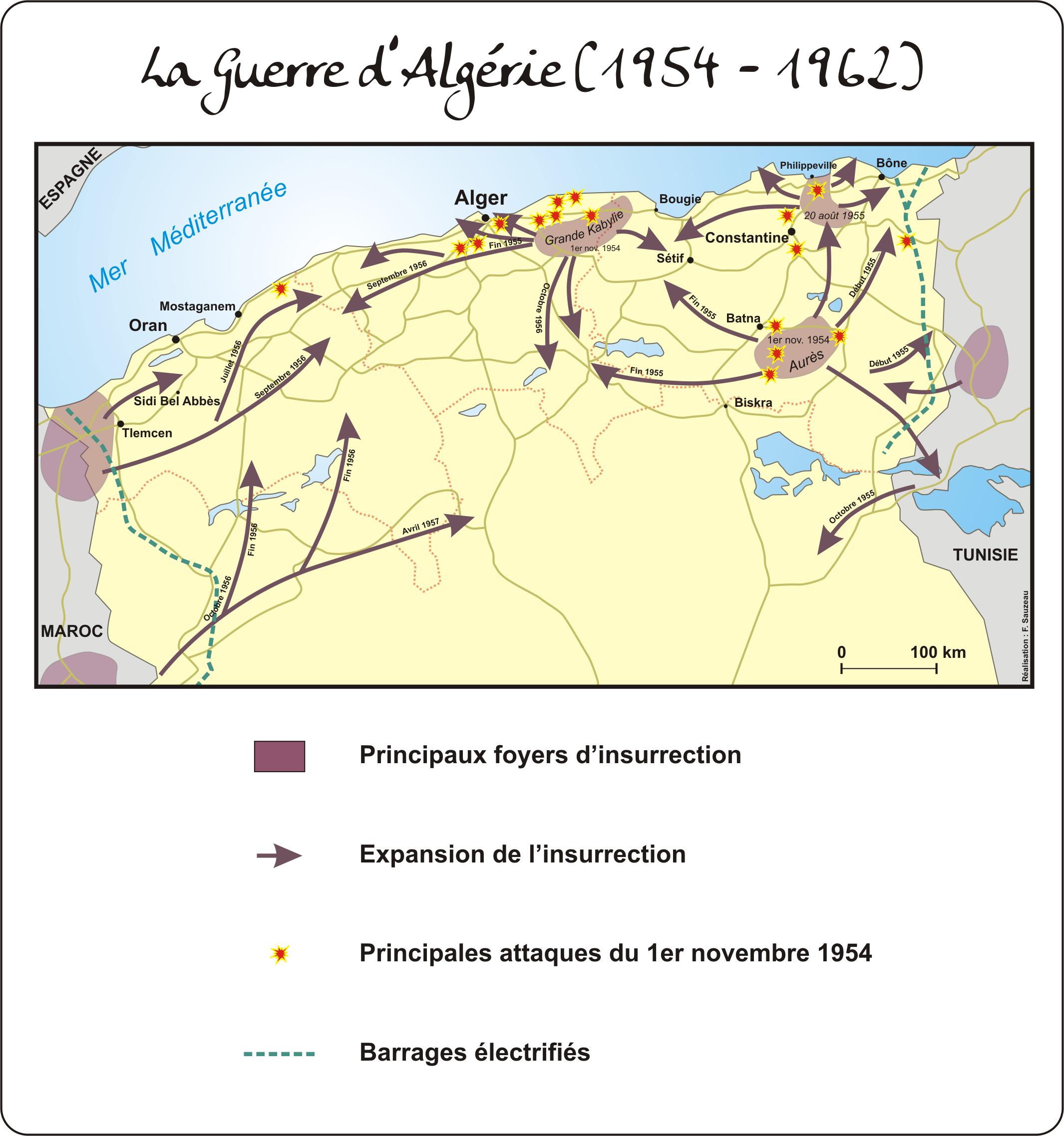 la carte d algérie La guerre d'Algérie (2131×2276) (avec images) | Alger, Guerre d