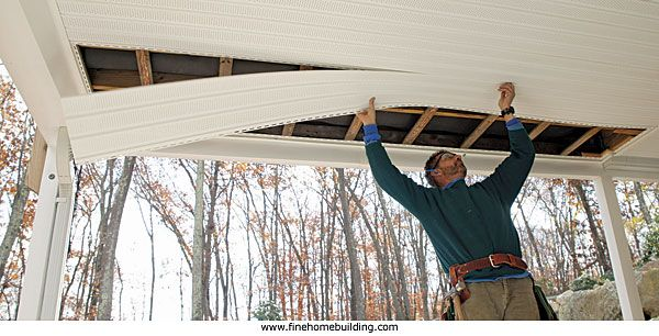 Covered Porch Ceiling Ideas Porches Patios And Decks