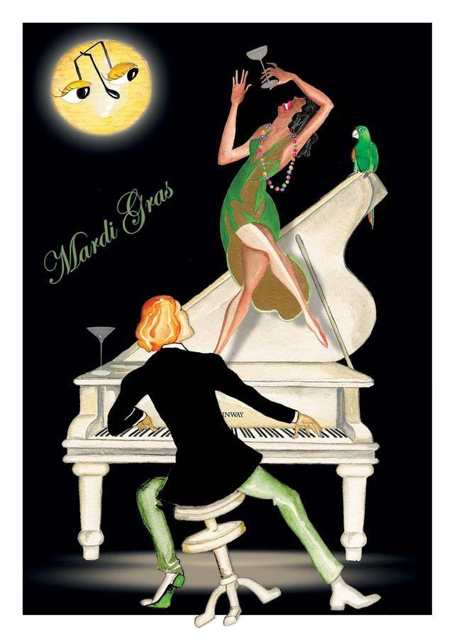 Girl Dancing On Piano Painting  - Girl Dancing On Piano Fine Art Print