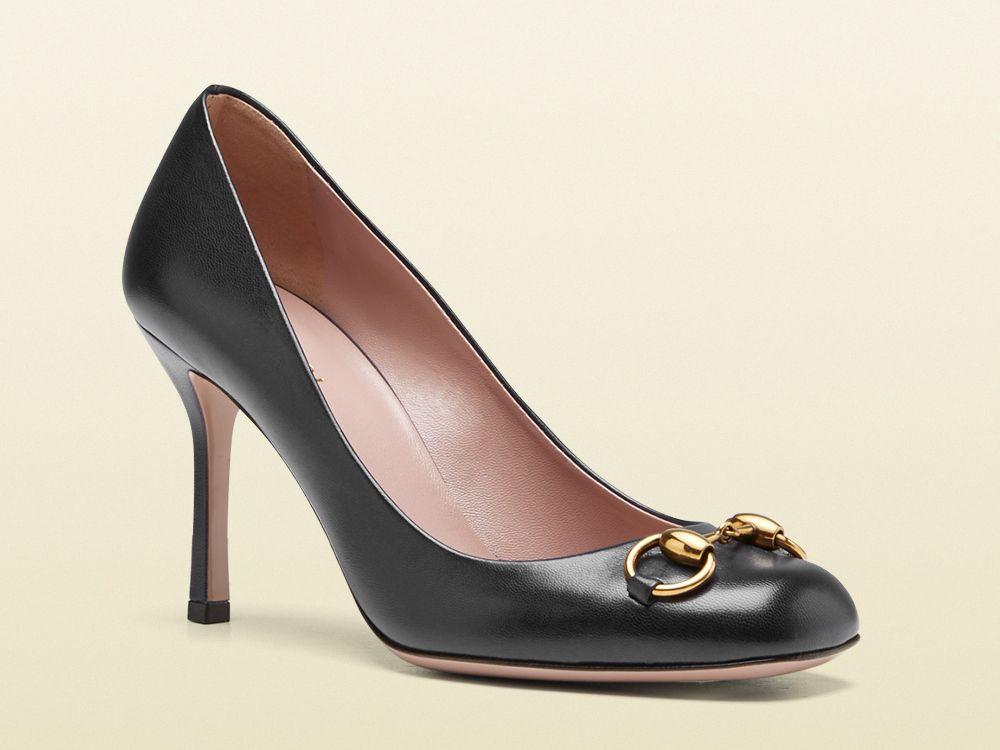 1619553913d Gucci  Jolene  black leather mid-heel pumps