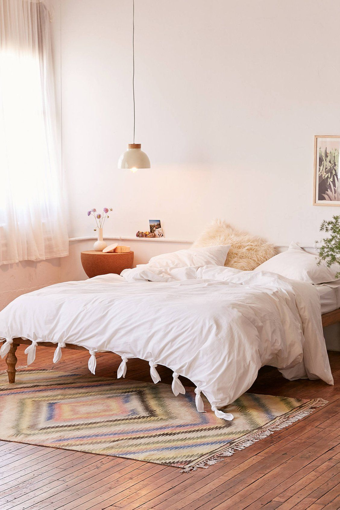 Knotted Washed Cotton Duvet Cover Cotton Duvet Cover Contemporary Decor Living Room Duvet Covers Urban Outfitters