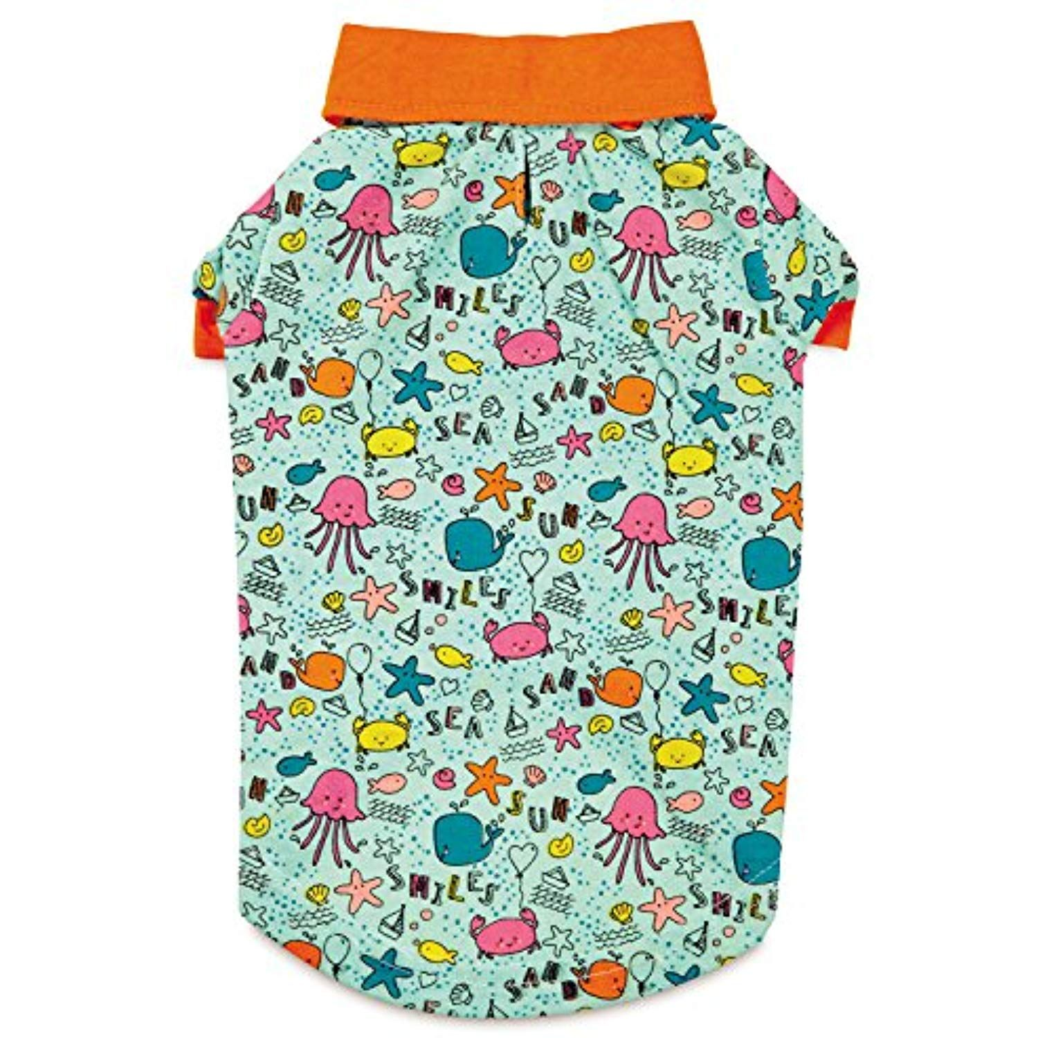Zack And Zoey Sun And Sea Upf40 Polo Shirt For Dogs Large Blue Orange Read More At The Image Link This Dog Shirt Small Dog Clothes Designer Dog Clothes