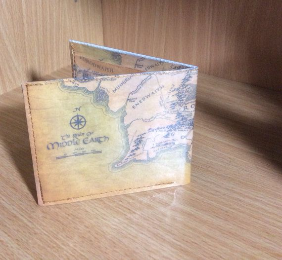 Lord of The Rings Wallet Map of Middle Earth by GraphicWallets155