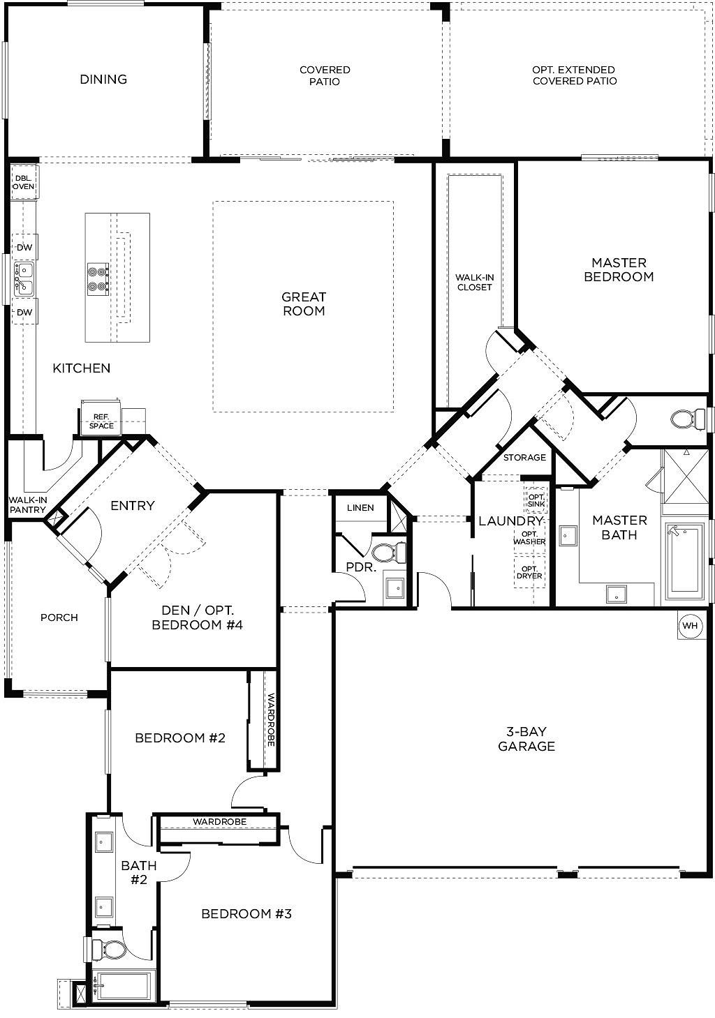 Find Your New Pardee Home Today Bathroom Floor Plans Floor Plan Design House Floor Plans