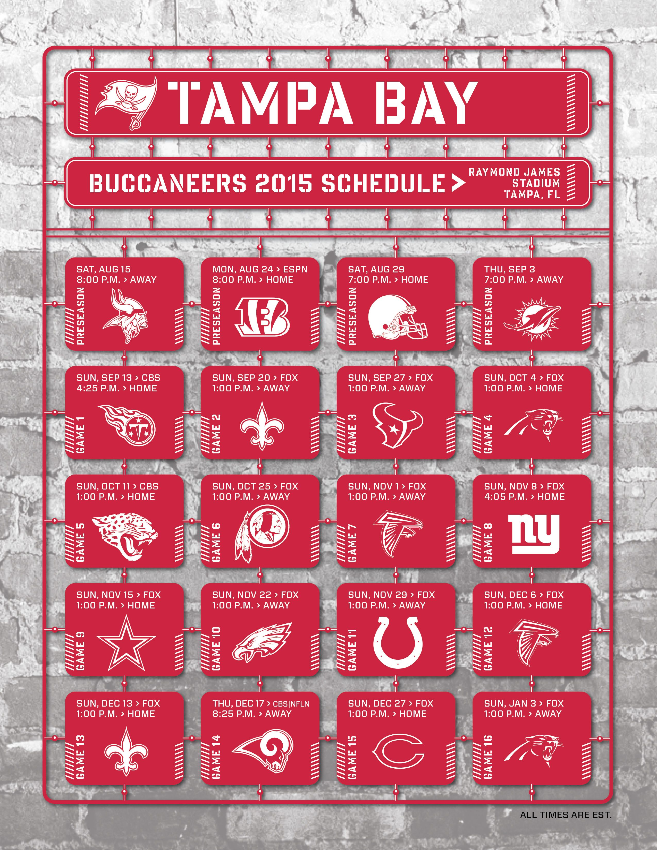 Tampa Bay Buccaneers 2015 Schedule Atlanta Falcons Schedule Atlanta Falcons San Francisco 49ers