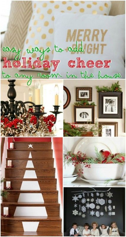 Holiday Decorating Ideas for Every Room in Your Home @Remodelaholic #12days72ideas #Christmas