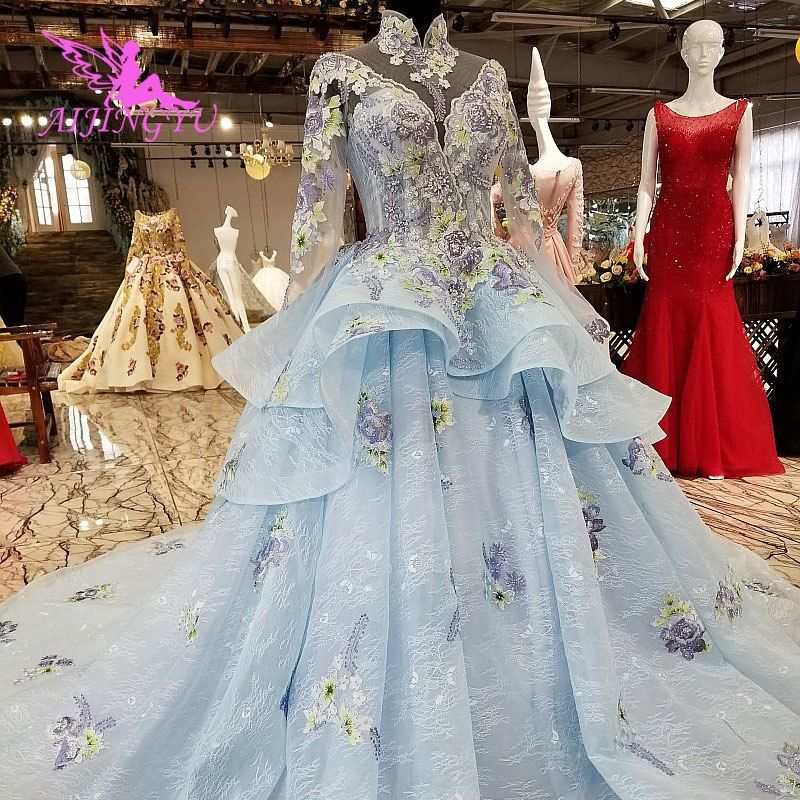 Aijingyu Royal Wedding Dress Affordable Gowns In Ivory Bridal Luxury Shop Victorian Newest Tulle Marriage Gown Online