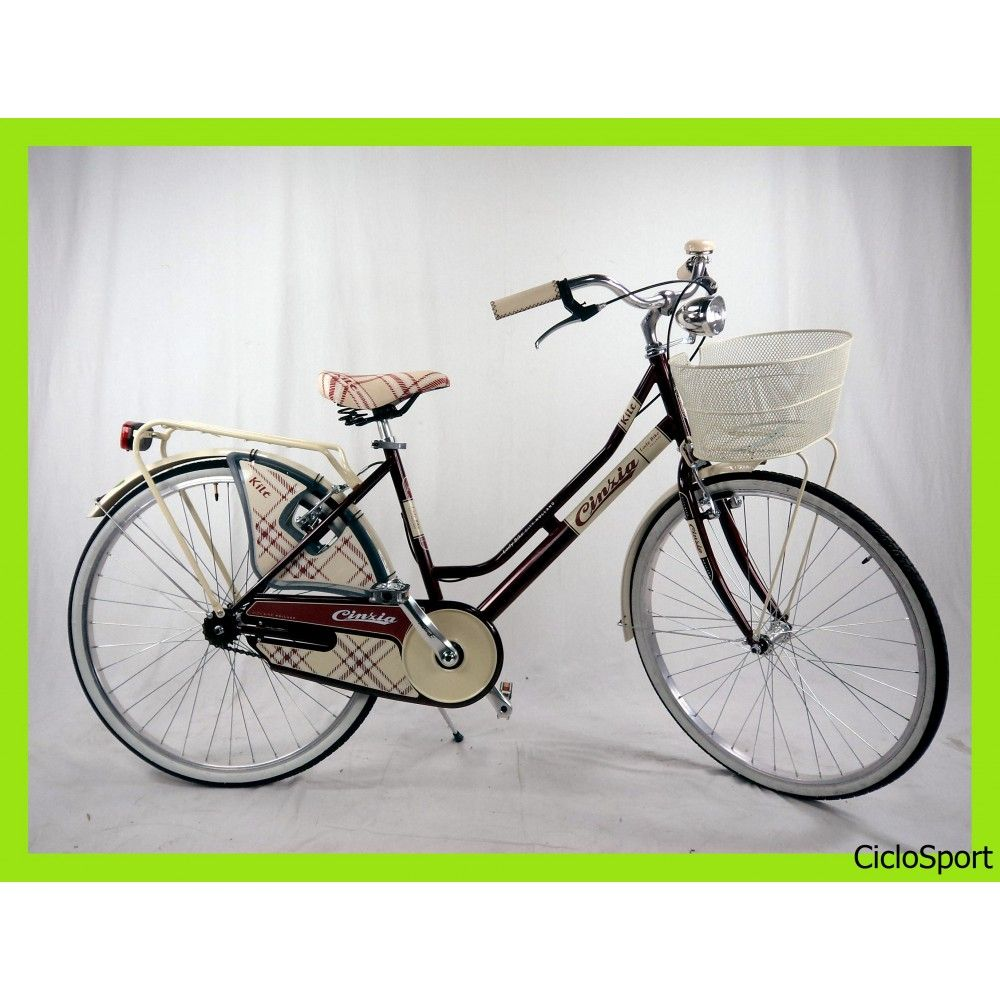 Bicicletta Cinzia City Bike Kilt De Luxe 26 Donna Acciaio